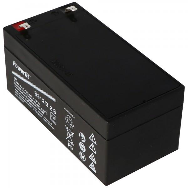 Exide Powerfit S312 / 3.2S blybatteri, tilslutning 4.8mm, VDS