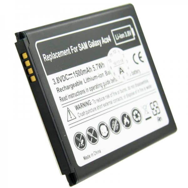 Batteri passer til Samsung EB-B130BE batteri Galaxy Ace 4, Galaxy Ace Style, SM-G310 med 4 kontakter