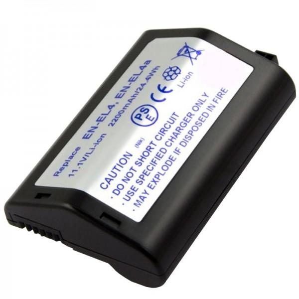 AccuCell batteri passer til Nikon EN-EL4 batteri, F6, D2H, D2X, D3, D3X