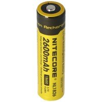 NiteCore 18650 Li-ion batteri til LED-lygter NL186 med 2600mAh, CR18650